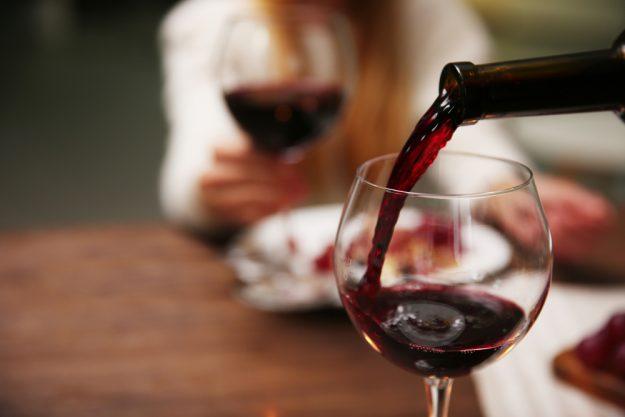 Weinprobe Stuttgart - Merlot im Glas
