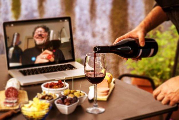 Weinprobe zuhause als Online-Tasting via Zoom