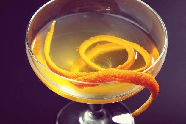 Gin-Seminar Bonn –Gin-Cocktail mit Orangenzeste