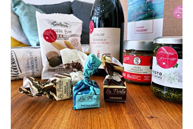 virtuelle Reise ins Piemont kleine Genussbox Inhalt