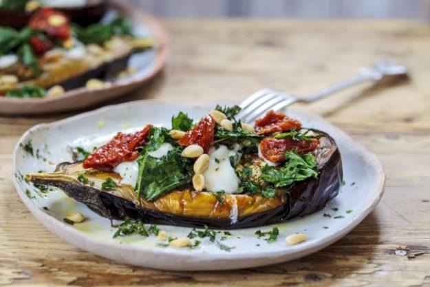 Kochen macht glücklich –Gefüllte Aubergine