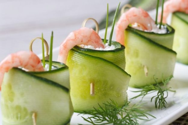 Kochen macht glücklich –Frischkäse-Rollen mit Shrimps