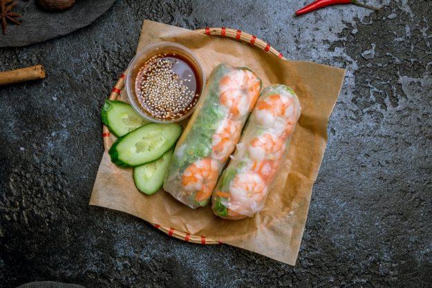 Thai Kochkurs online Sommerrollen