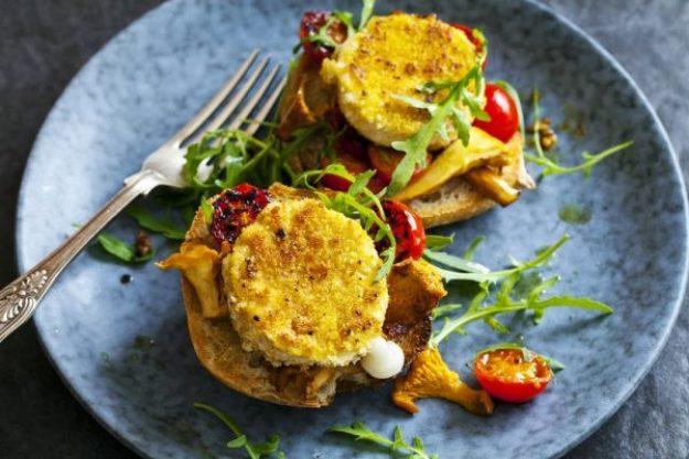 Die Welt auf vegetarisch –Puffer mit Hirse und frischem Gemüse