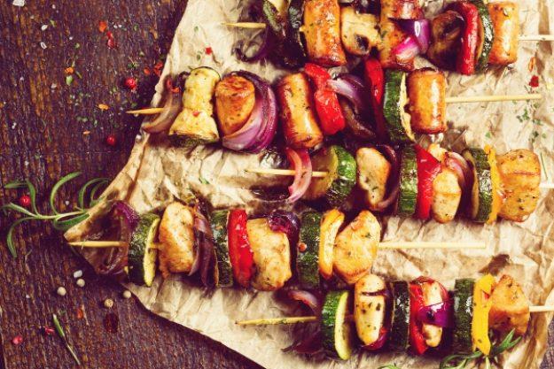 Grillkurs-Gutschein –Gemüsespieße mit Paprika