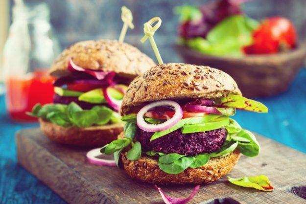 Veggie-Kochkurs-Gutschein –Burger mit rote Beete