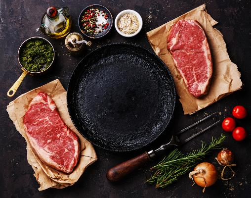 Fleisch und Grillen