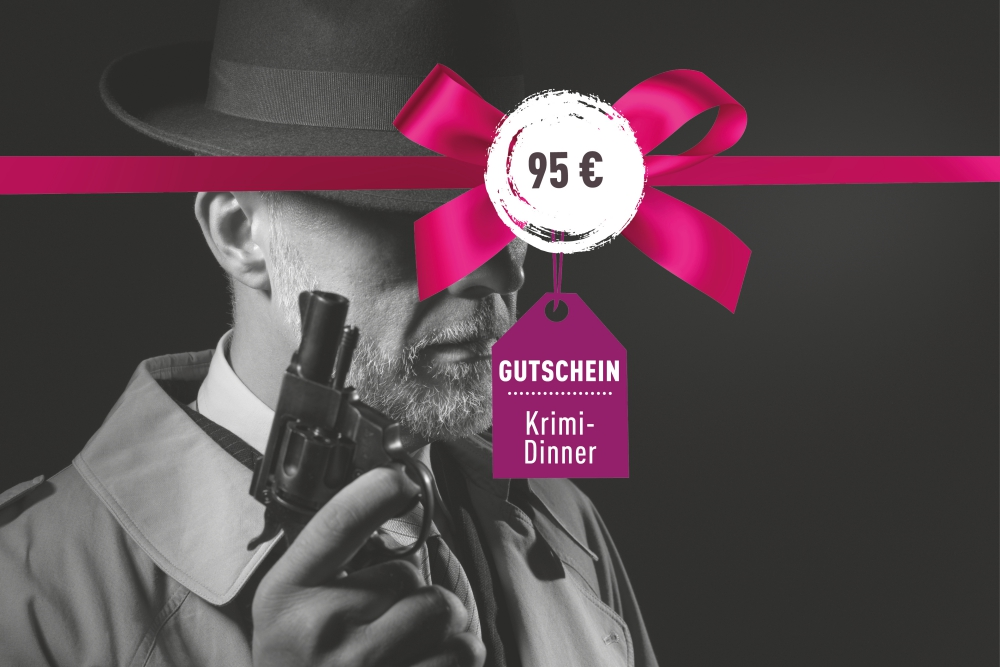 Gutschein für ein Krimi-Dinner 95€