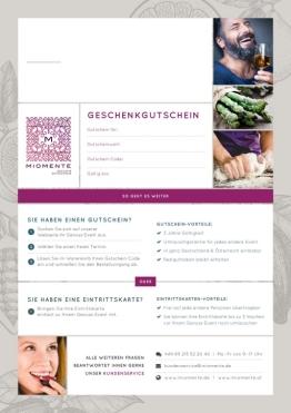 Miomente Gutschein als PDF