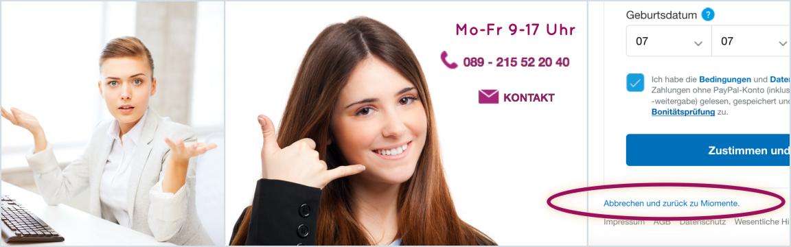 Miomente-Kontakt